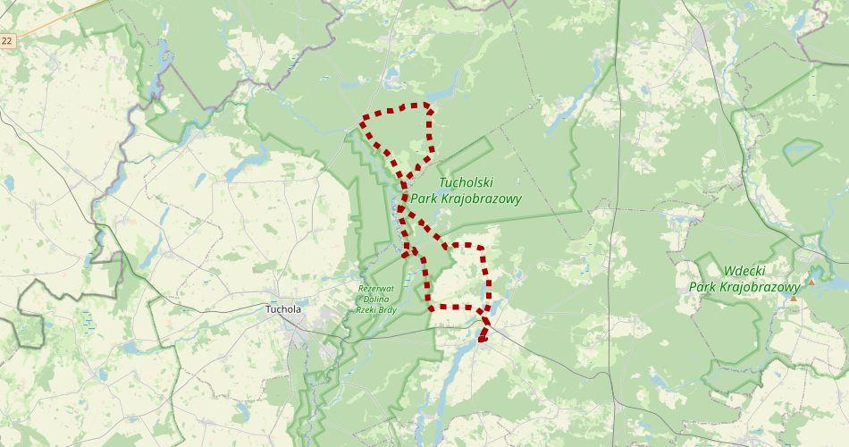 Mapa trasy Gołąbkowy (Szlak rowerowy, czerwony)