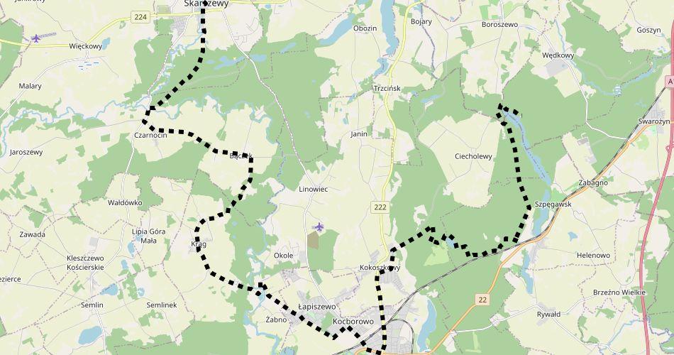 Mapa trasy Szlak Joannitów (szlak rowerowy czarny)