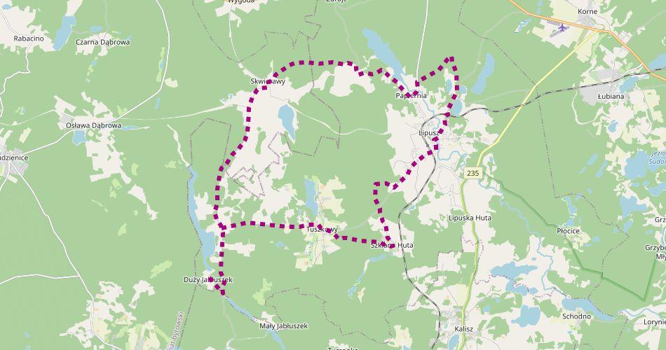 Mapa trasy Lipuska Trasa Rowerowa (nieoznakowana)